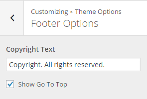 Footer-Options