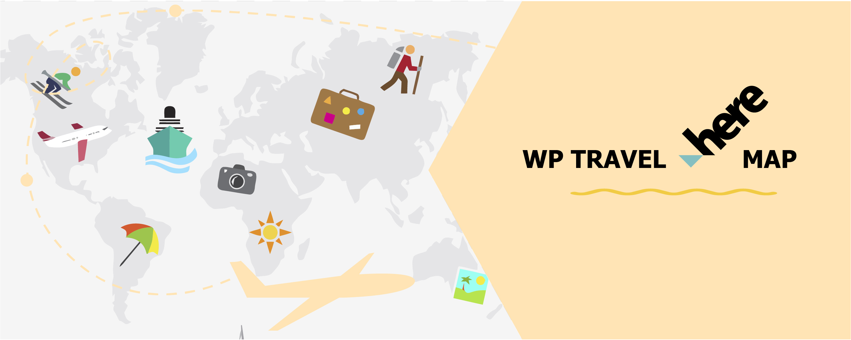WP Travel Here Map