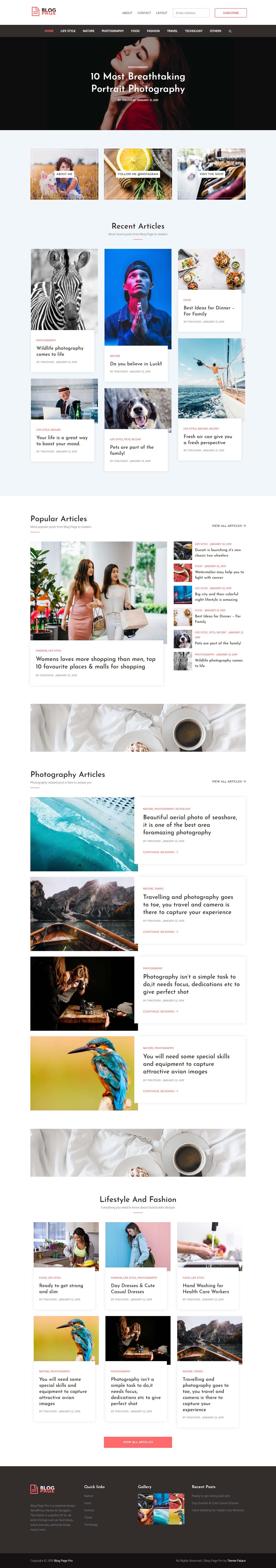 Blog Page Pro
