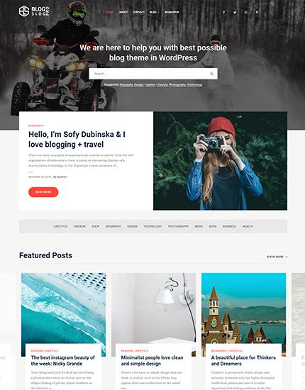 BlogSlog is a powerful Free WordPress blog theme - Theme Palace