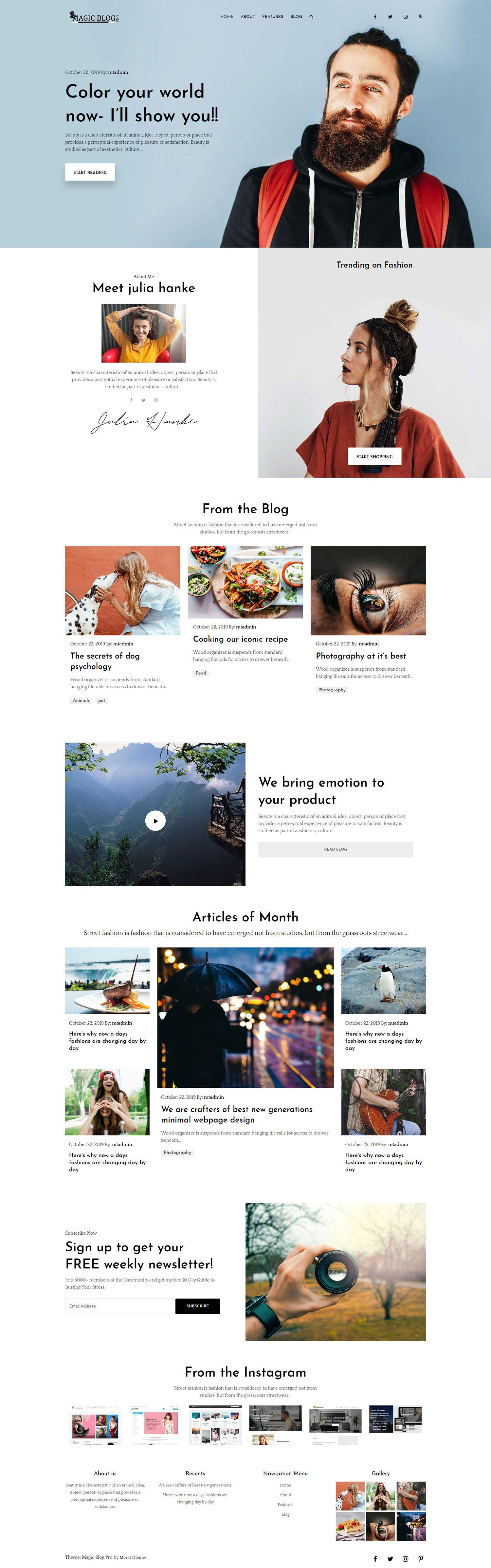 Magic Blog Pro