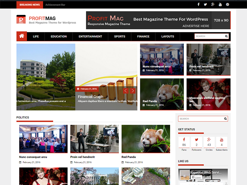 Profitmag Magazine WordPress Theme