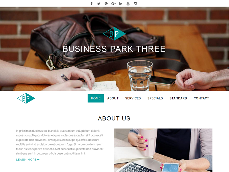 Business Park Theme Screenshot