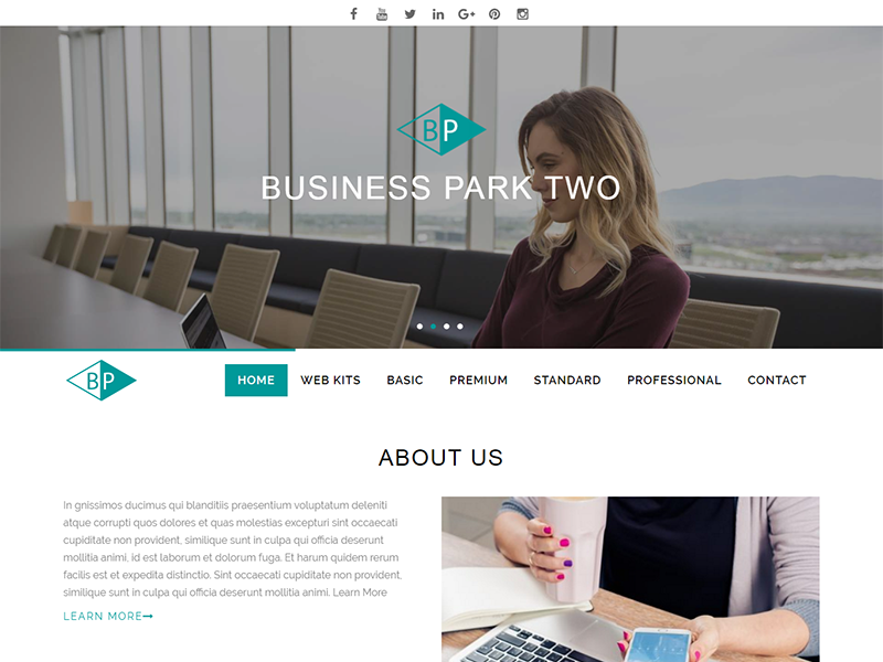 Business Park Pro Theme Screenshot