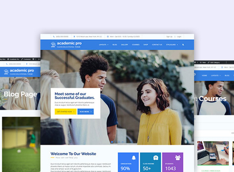 Academic pro theme palace extra page templates academic pronofoot35fo Images