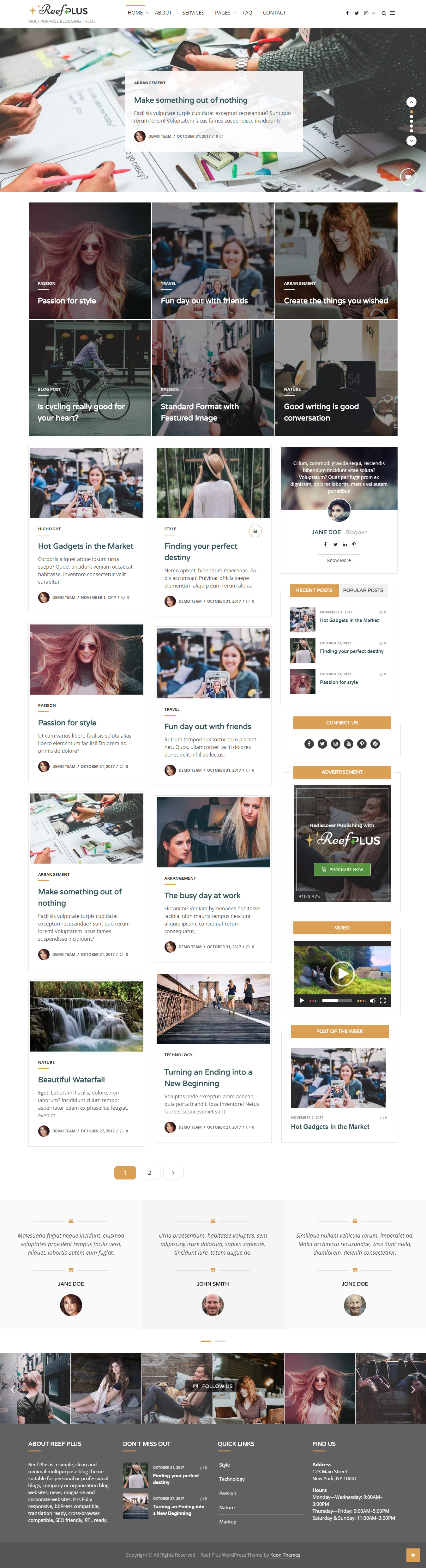 Reef Plus – WordPress Blog Theme