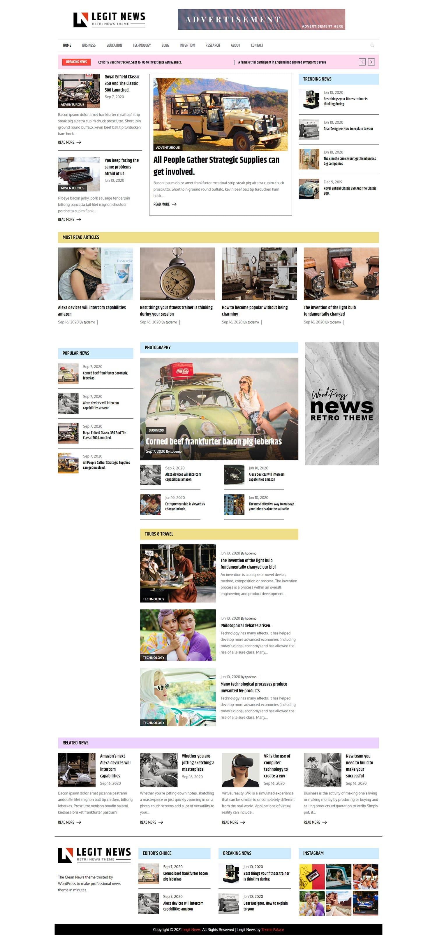 Free Newspaper WordPress Themes 2021 – Legit News